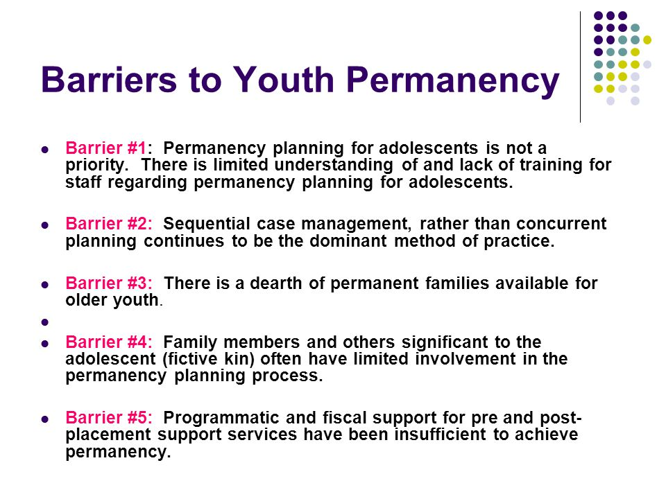 Barriers to Youth Permanency