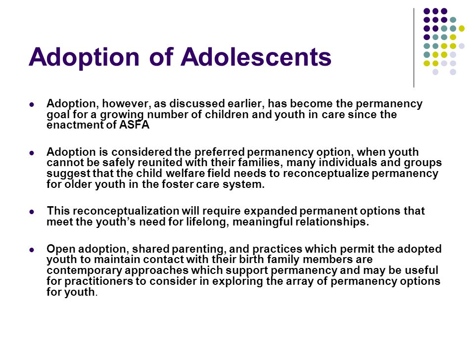 Adoption of Adolescents