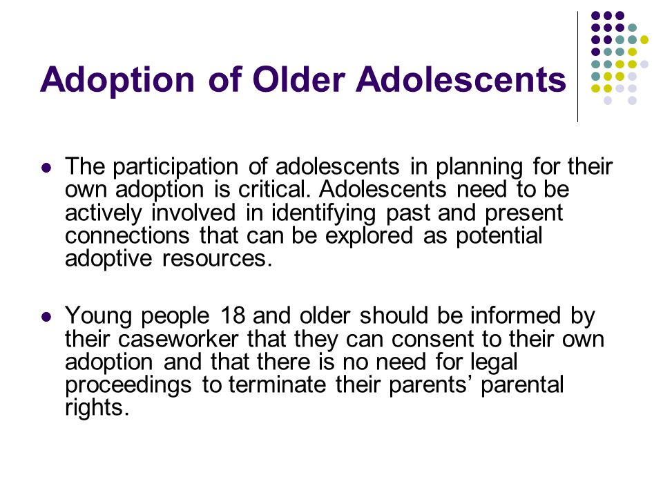 Adoption of Older Adolescents