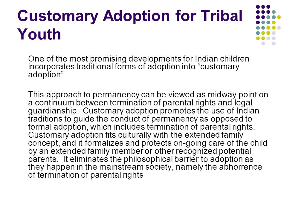Customary Adoption for Tribal Youth