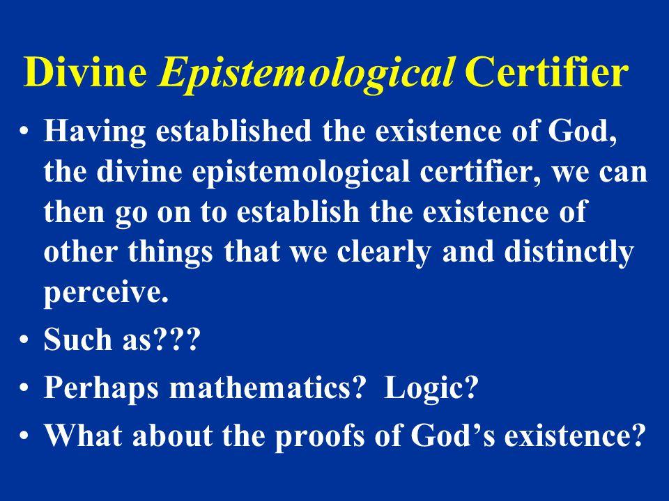 Divine Epistemological Certifier