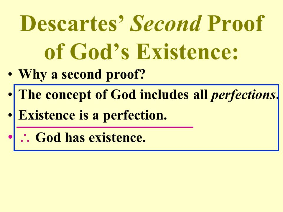Descartes' Second Proof of God's Existence: