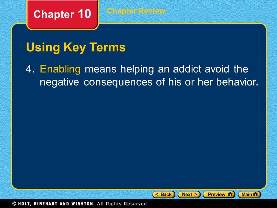 Using Key Terms Chapter 10