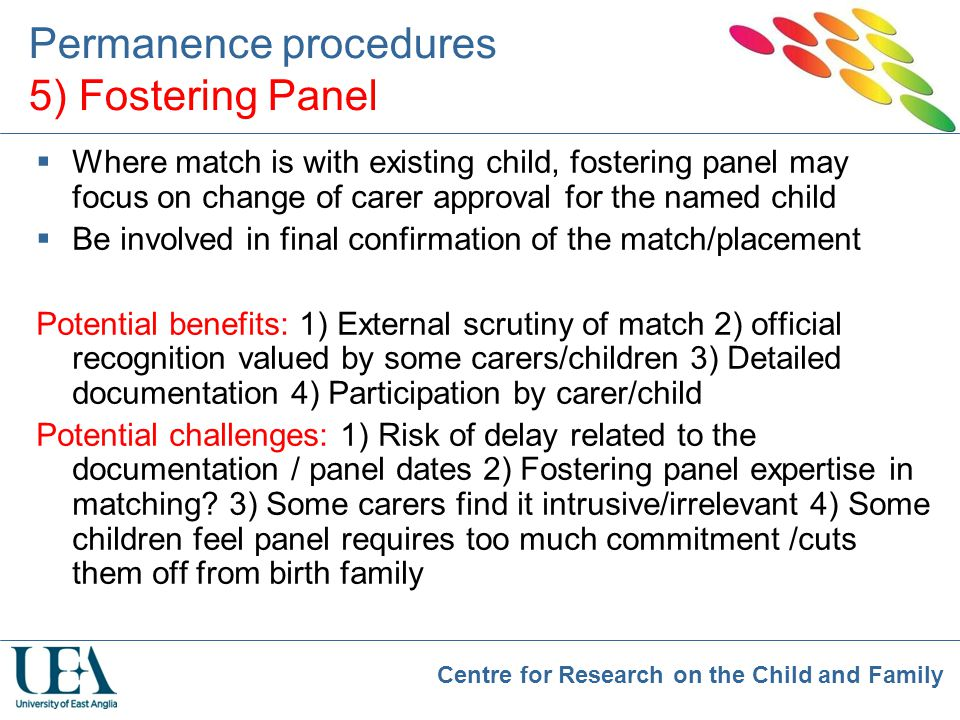 Permanence procedures 5) Fostering Panel