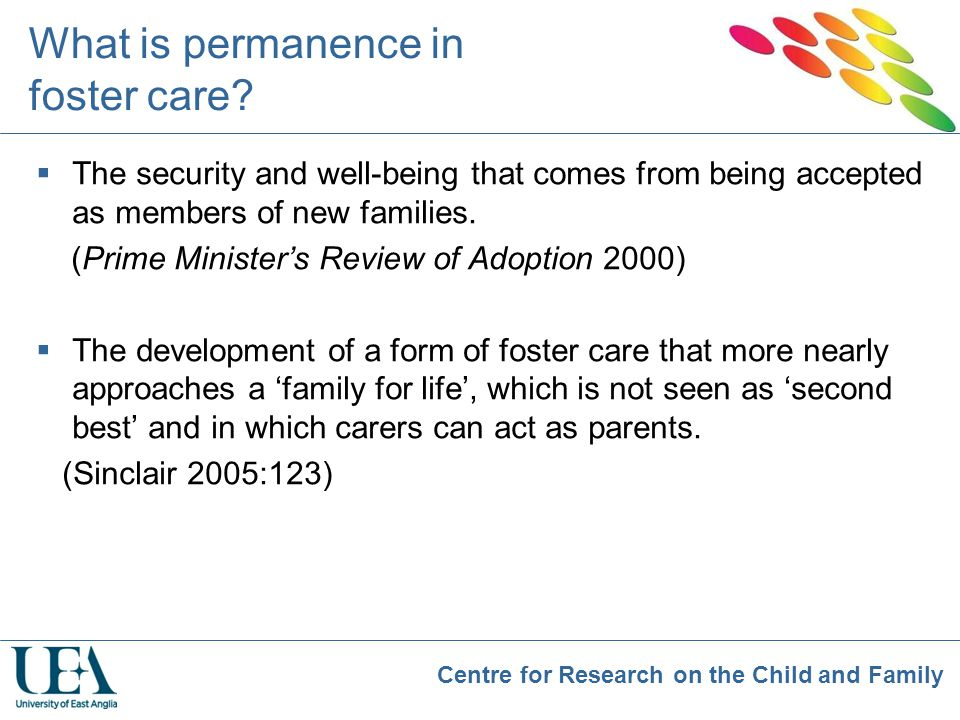What is permanence in foster care