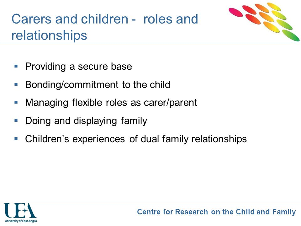 Carers and children - roles and relationships