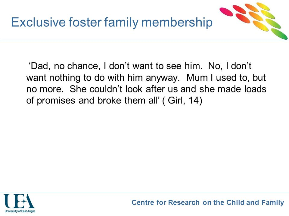Exclusive foster family membership