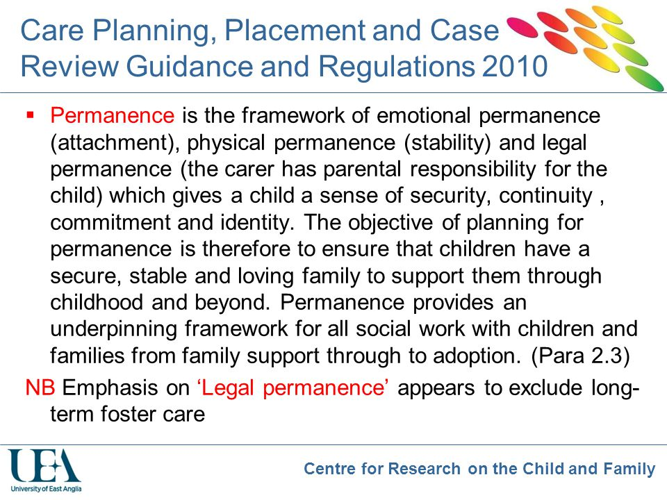 Care Planning, Placement and Case Review Guidance and Regulations 2010
