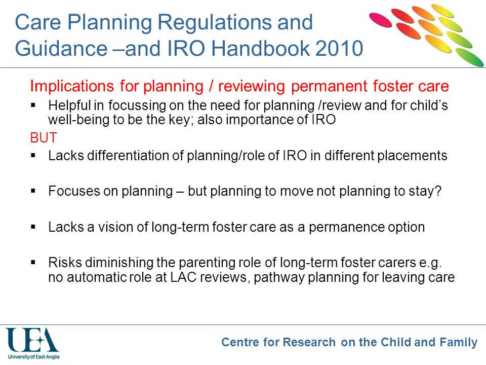 Care Planning Regulations and Guidance –and IRO Handbook 2010