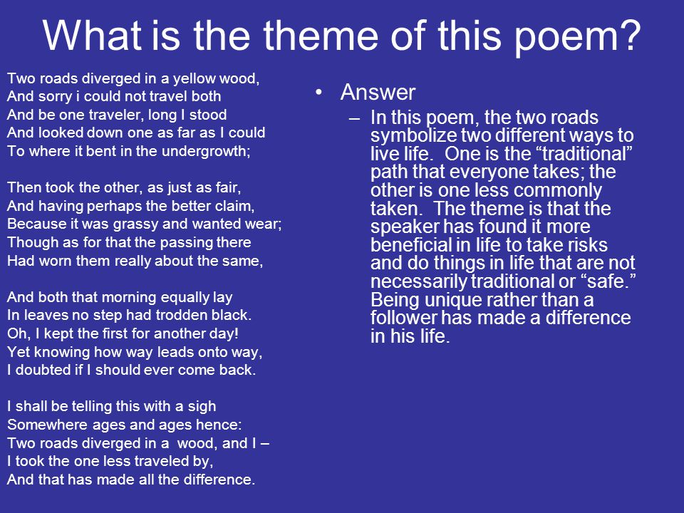 What is the theme of this poem