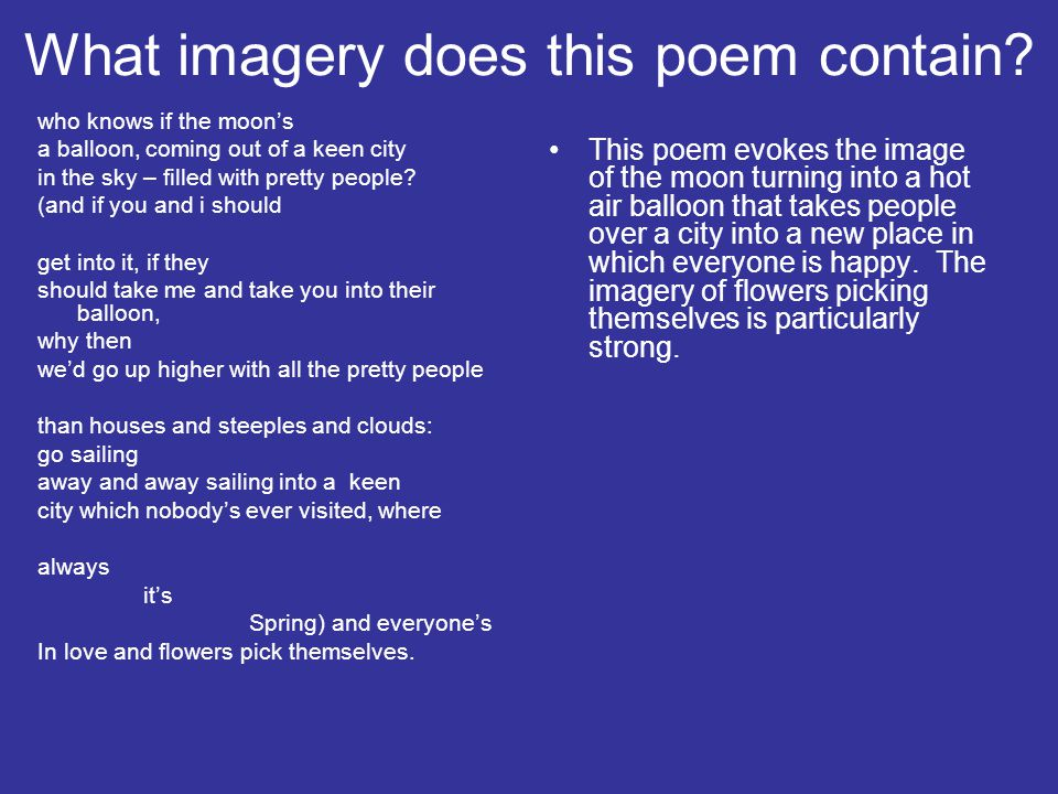 What imagery does this poem contain