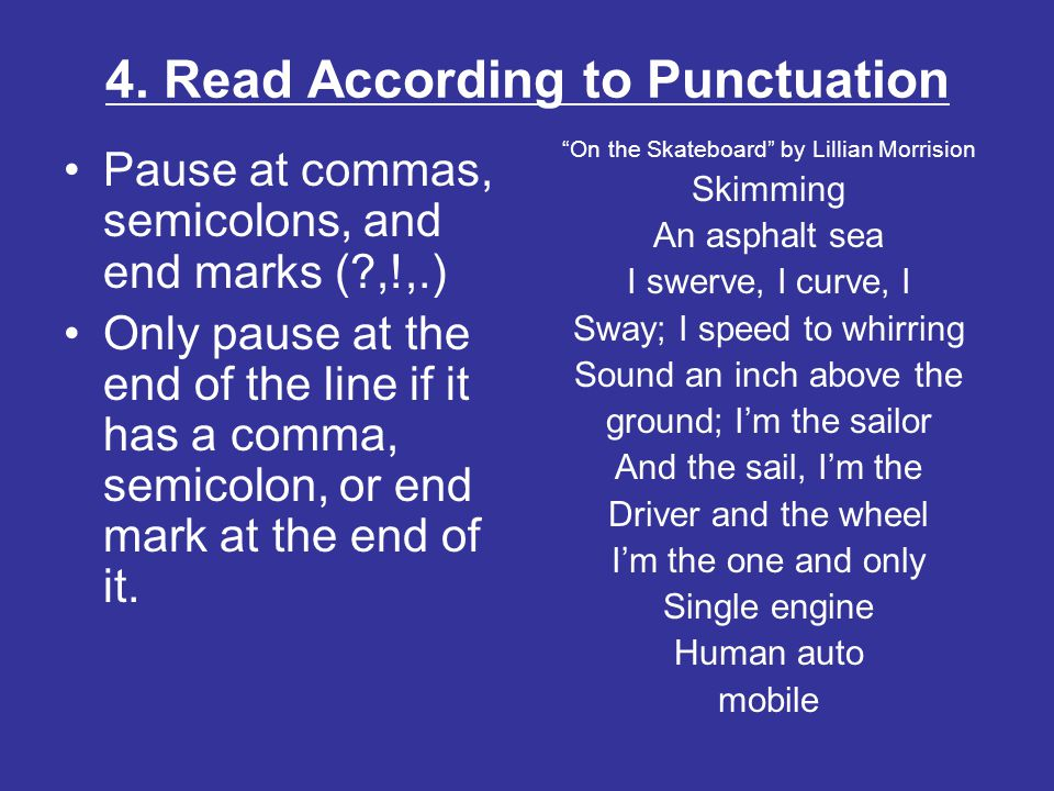 4. Read According to Punctuation