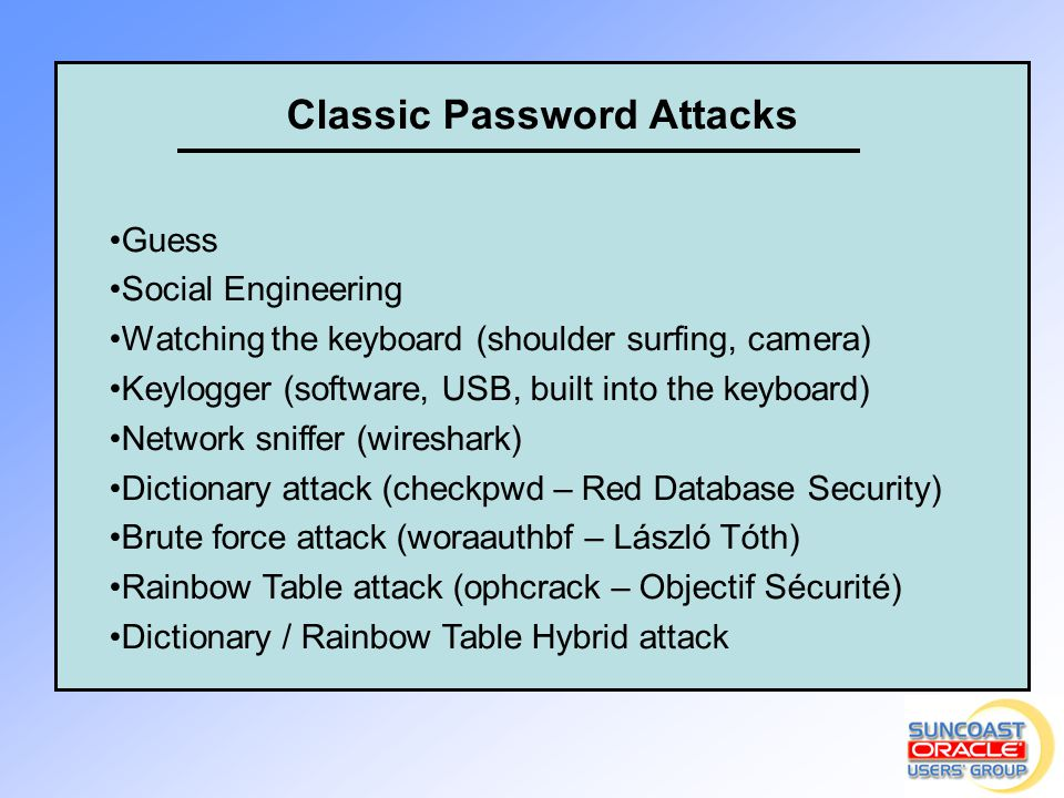 Classic Password Attacks