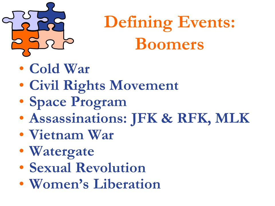 Defining Events: Boomers