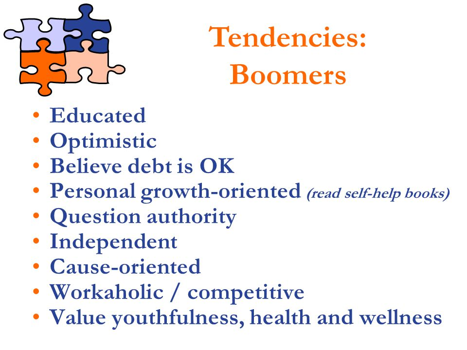 Tendencies: Boomers Educated Optimistic Believe debt is OK