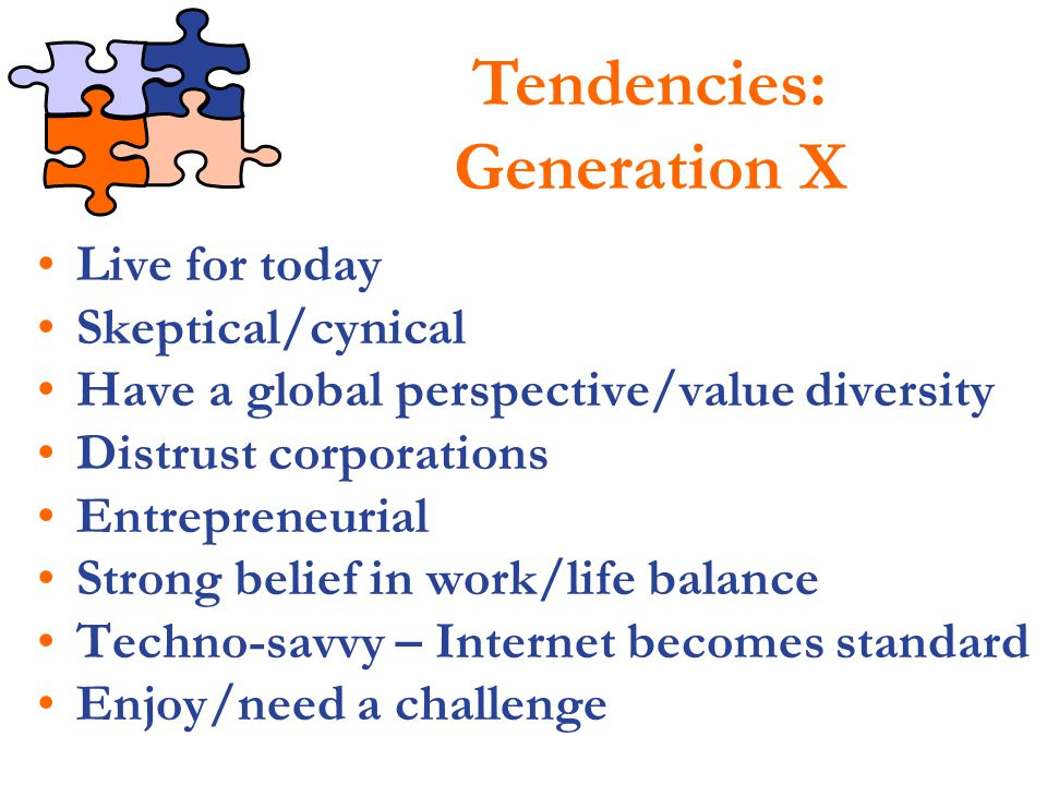Tendencies: Generation X