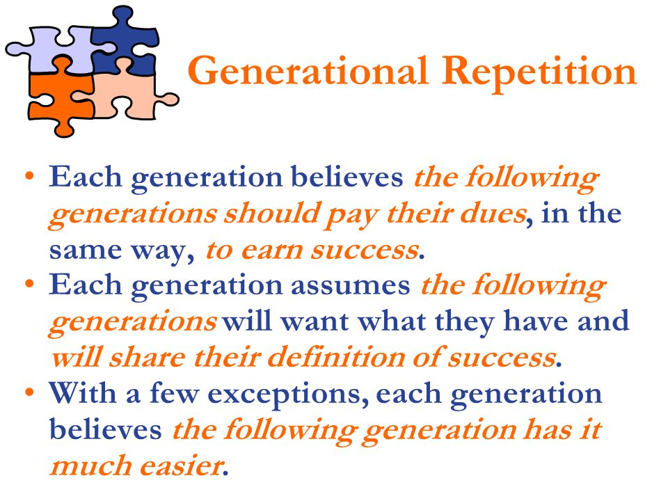 Generational Repetition