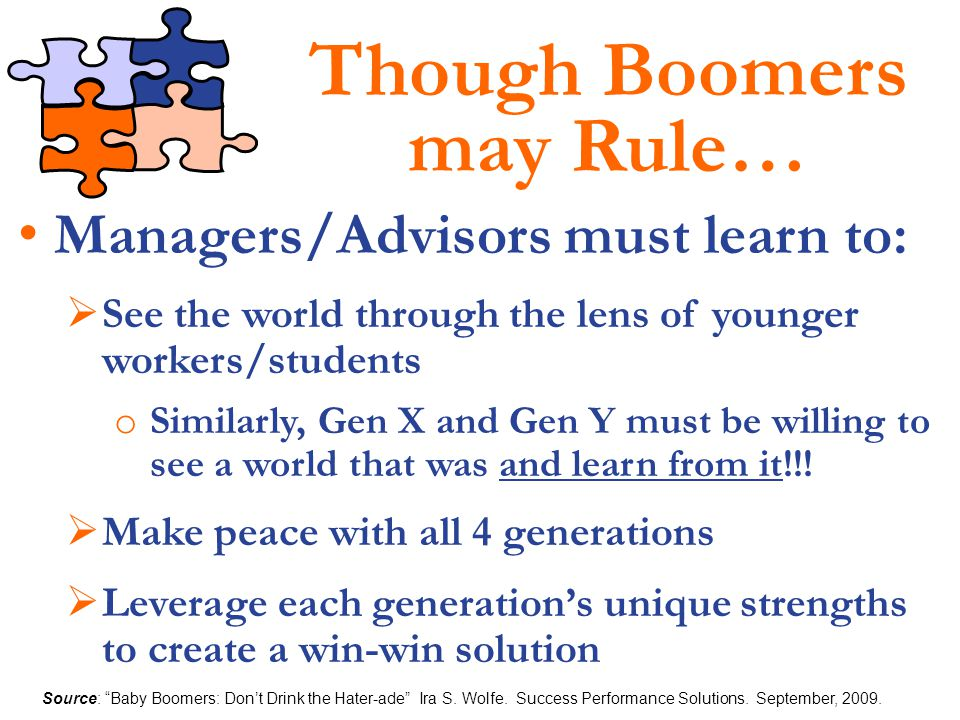 Though Boomers may Rule…