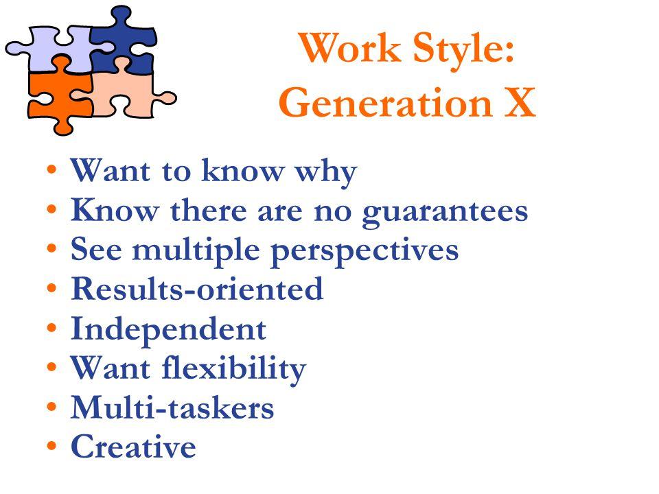 Work Style: Generation X