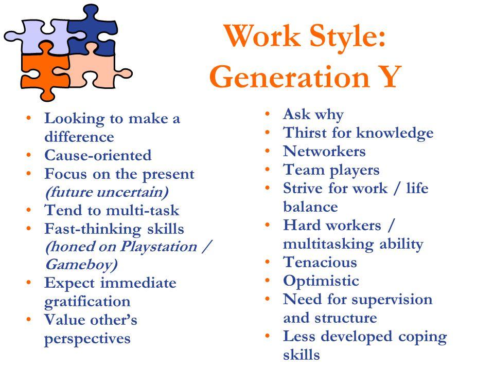 Work Style: Generation Y