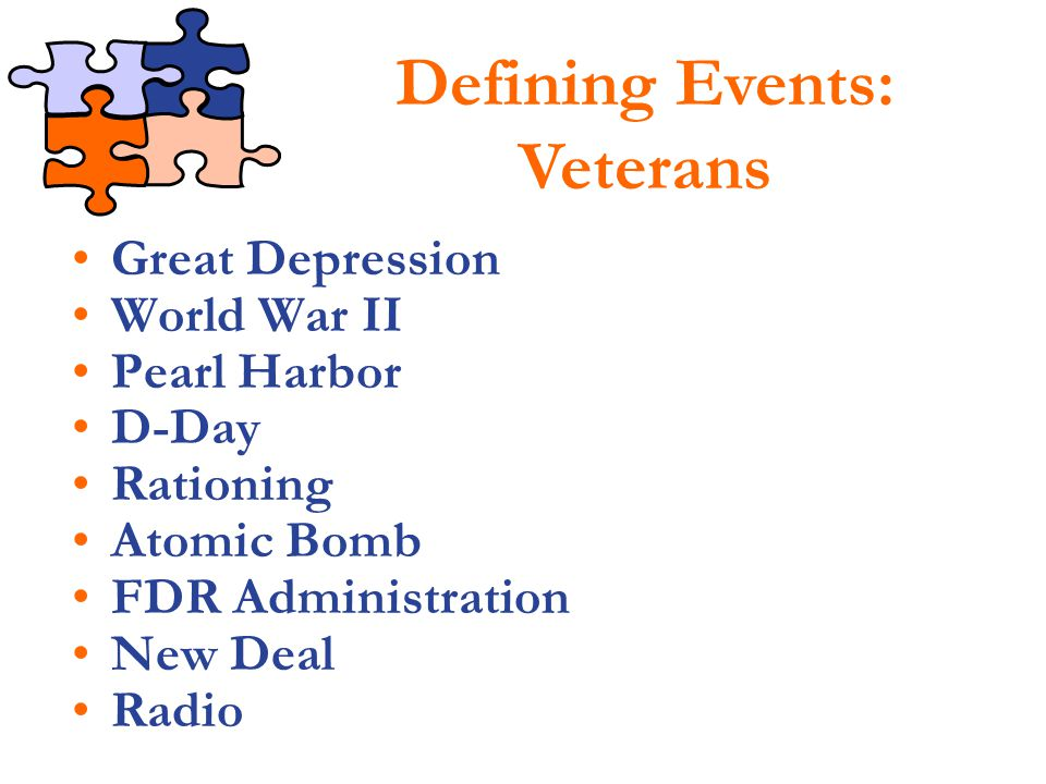 Defining Events: Veterans