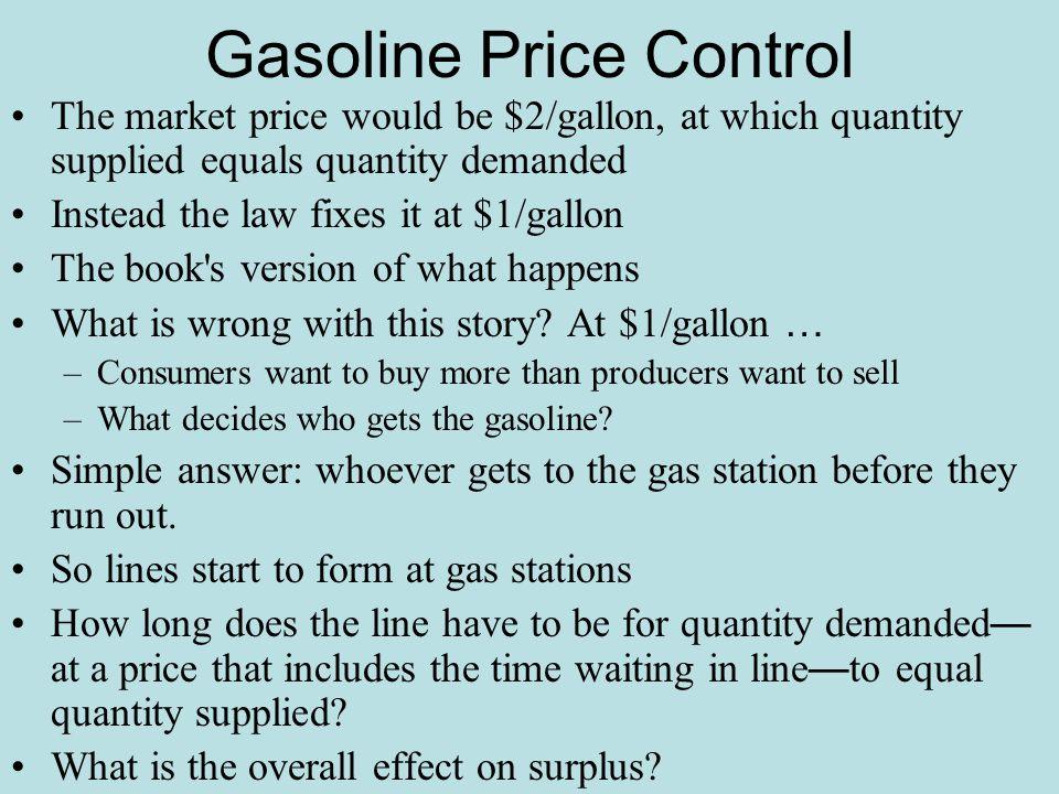 Gasoline Price Control