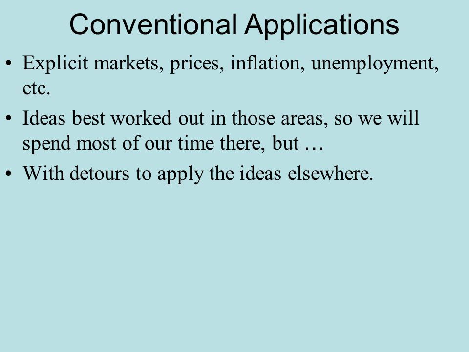Conventional Applications