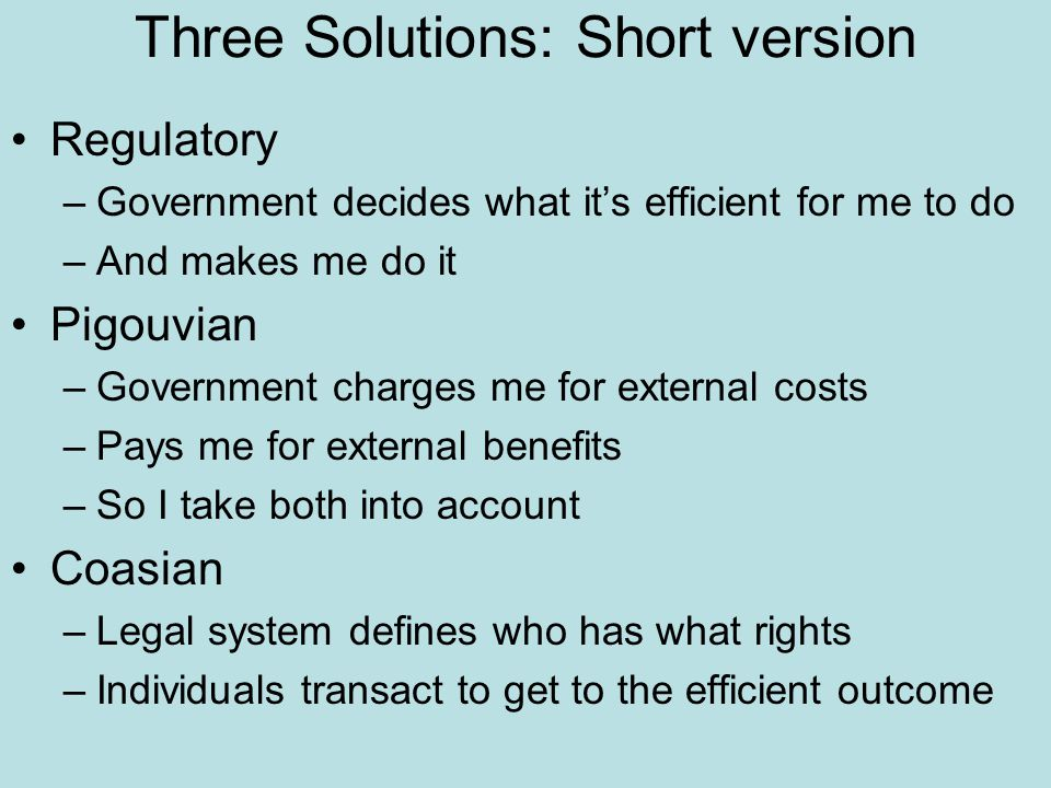 Three Solutions: Short version