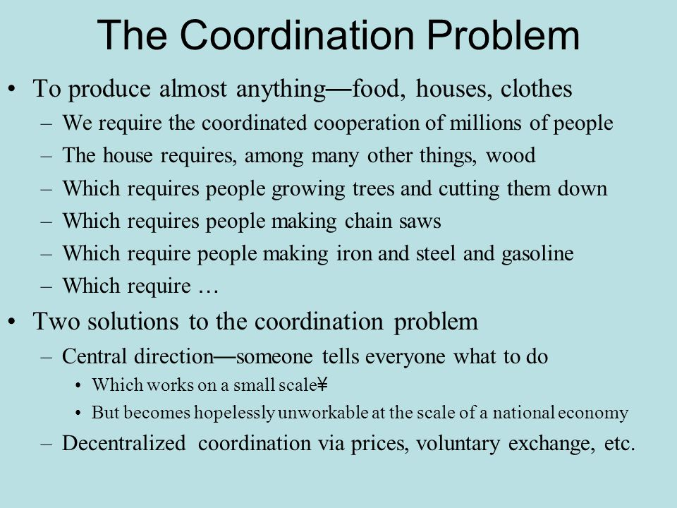 The Coordination Problem