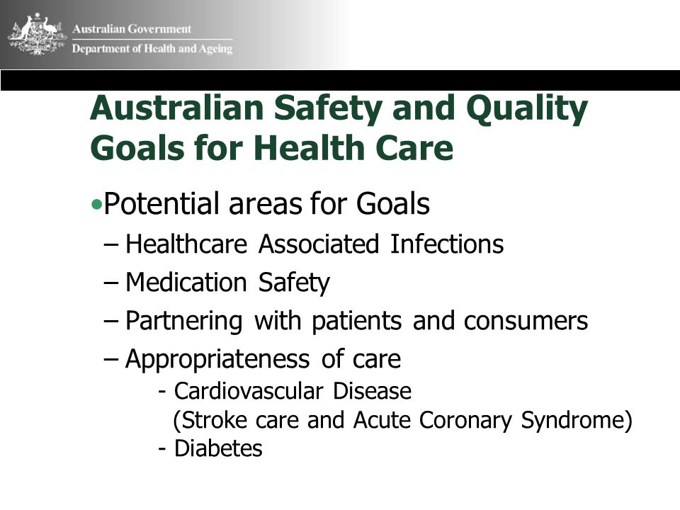 Australian Safety and Quality Goals for Health Care