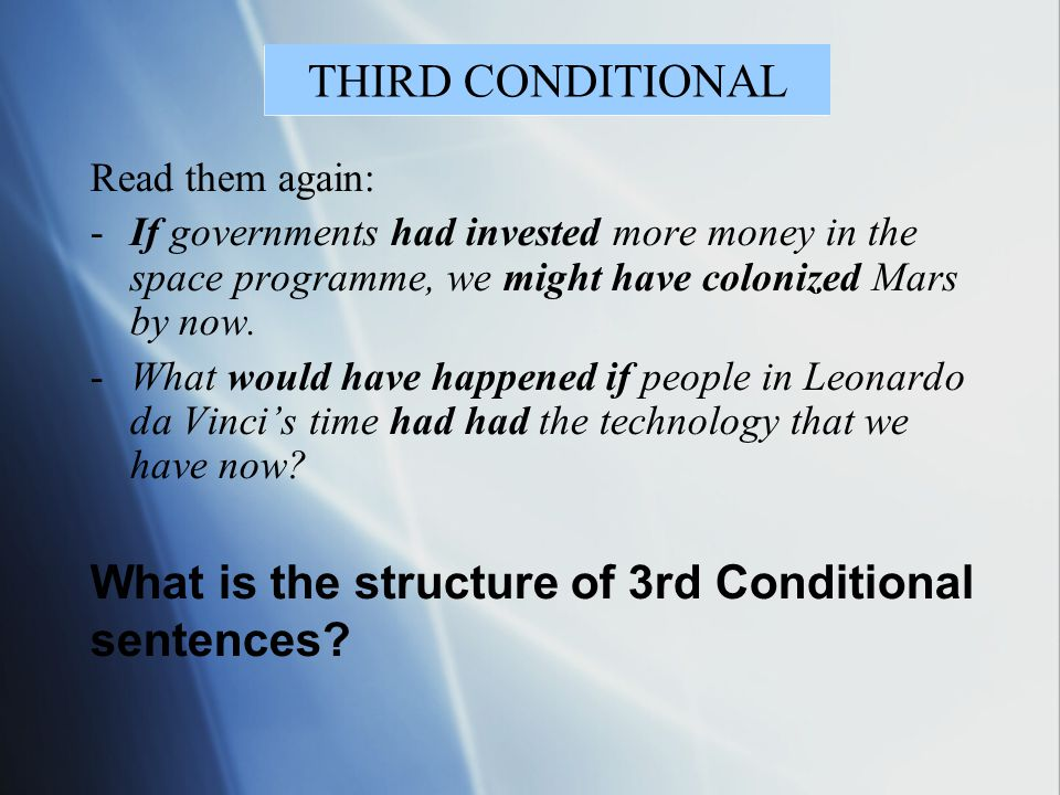 What is the structure of 3rd Conditional sentences
