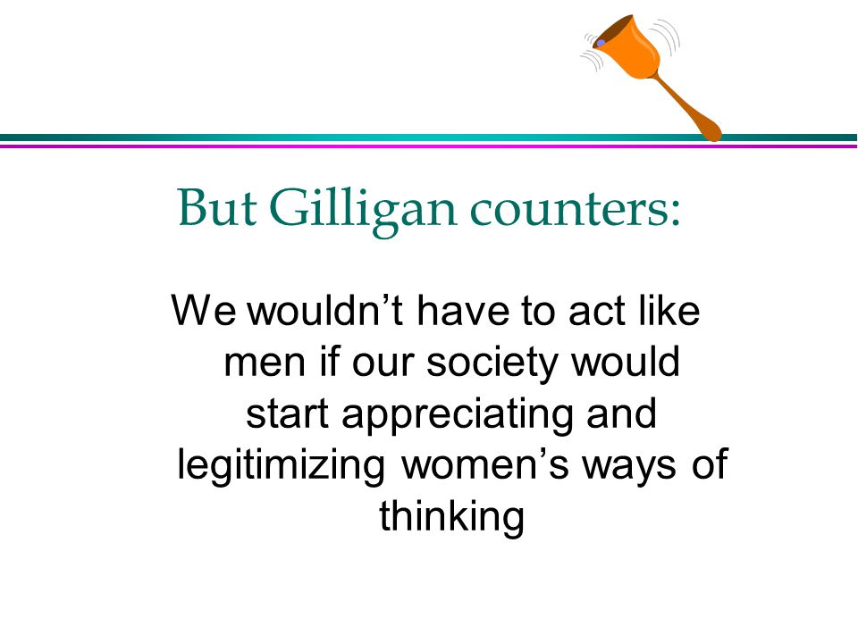 But Gilligan counters: