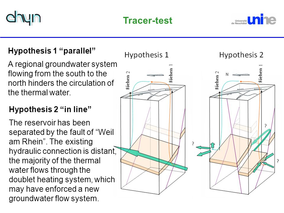 Tracer-test Hypothesis 1 parallel