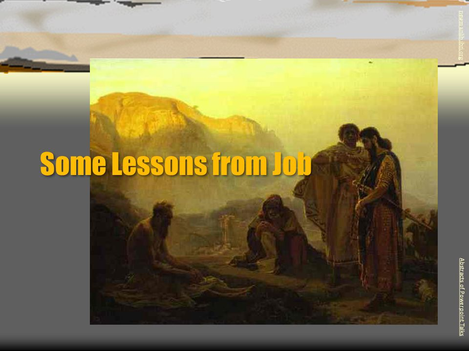 Some Lessons from Job - newmanlib.ibri.org -