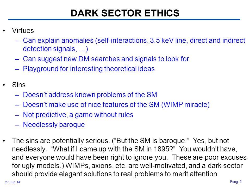 DARK SECTOR ETHICS Virtues