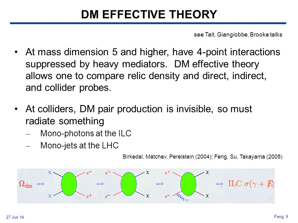 DM EFFECTIVE THEORY see Tait, Giangiobbe, Brooke talks.