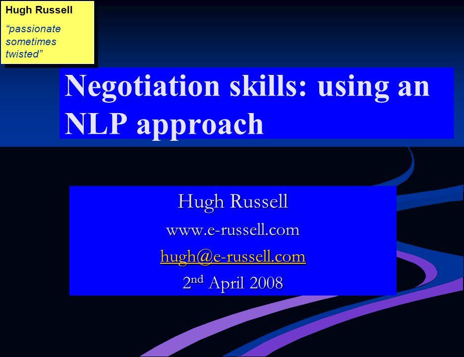 Negotiation skills: using an NLP approach