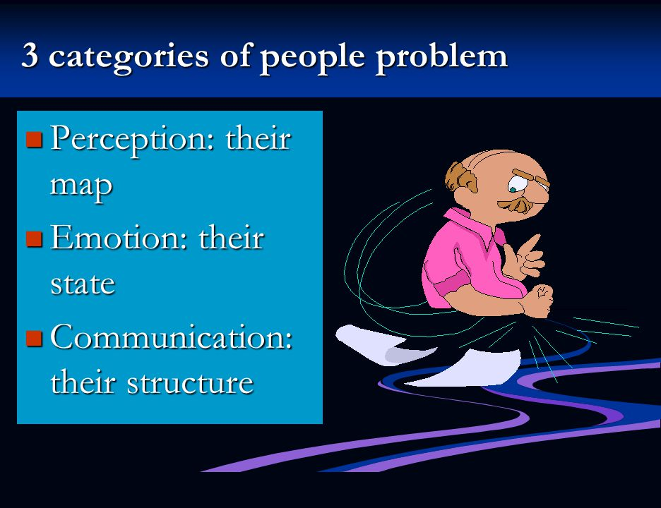 3 categories of people problem