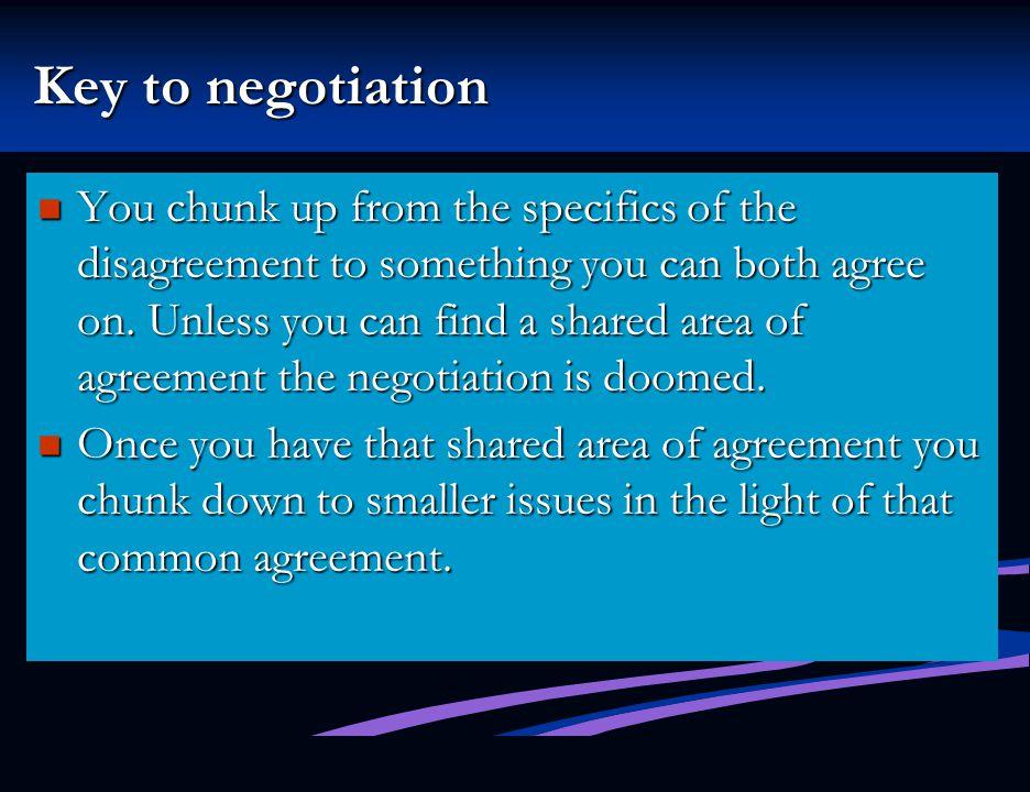 Key to negotiation