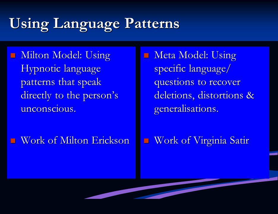 Using Language Patterns
