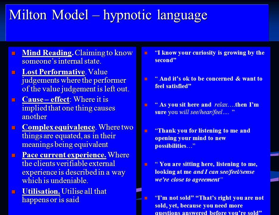 Milton Model – hypnotic language
