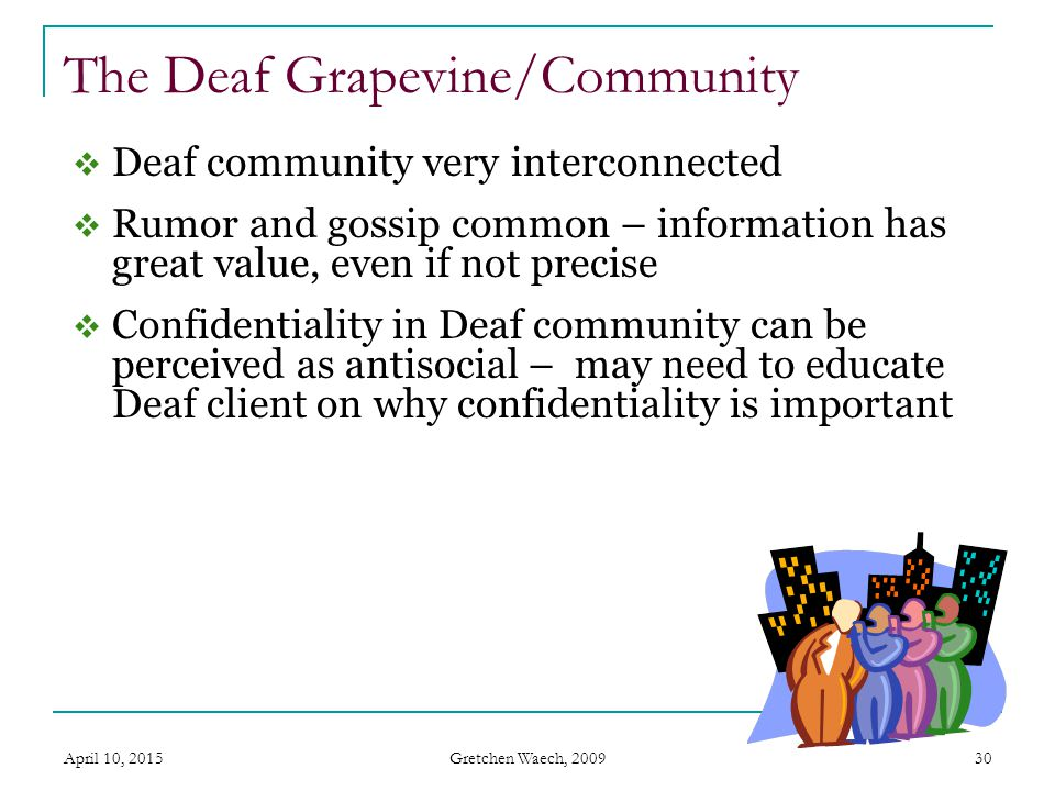 The Deaf Grapevine/Community