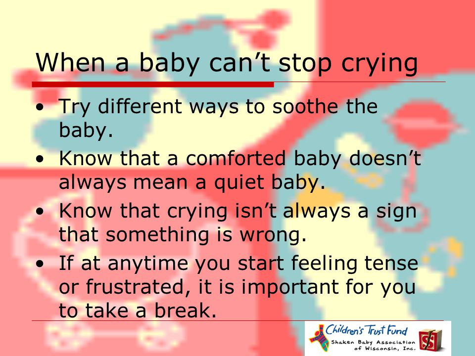 When a baby can't stop crying