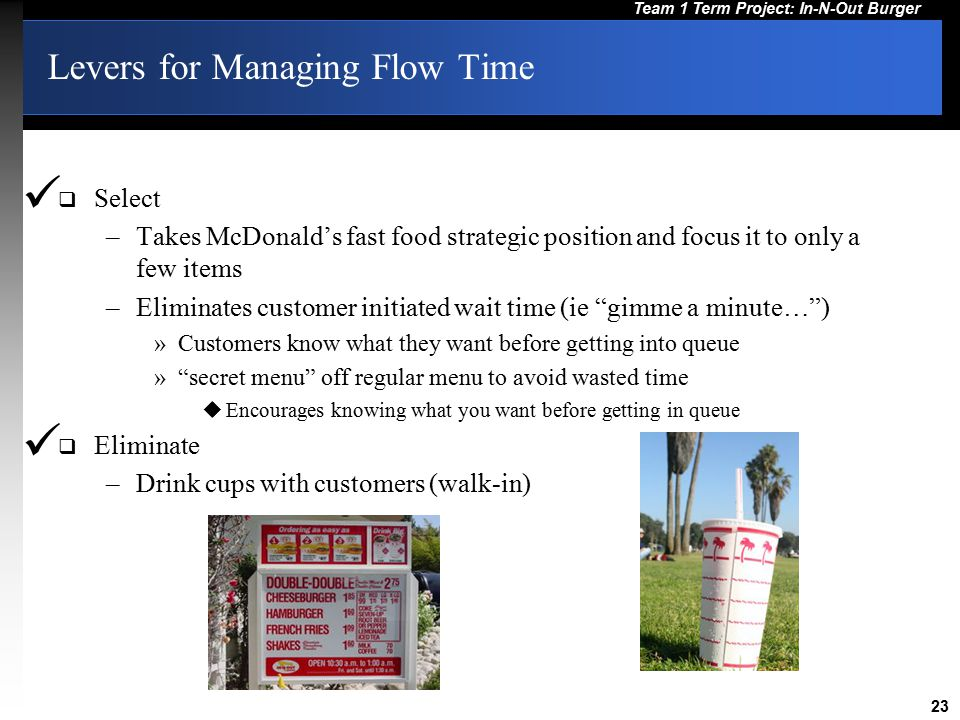 Levers for Managing Flow Time