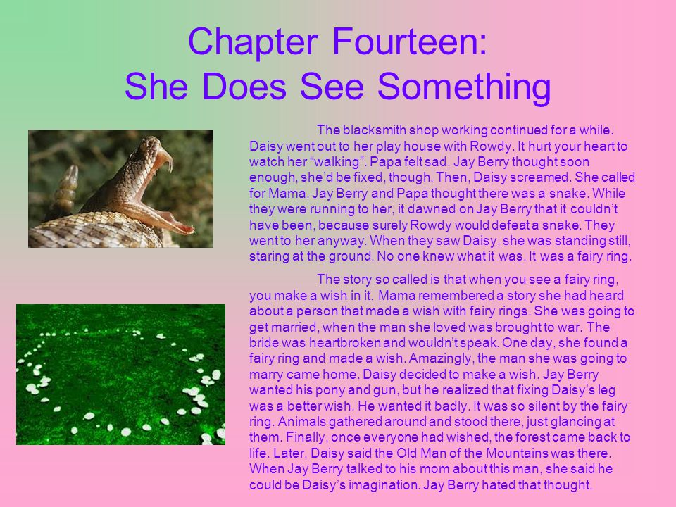 Chapter Fourteen: She Does See Something