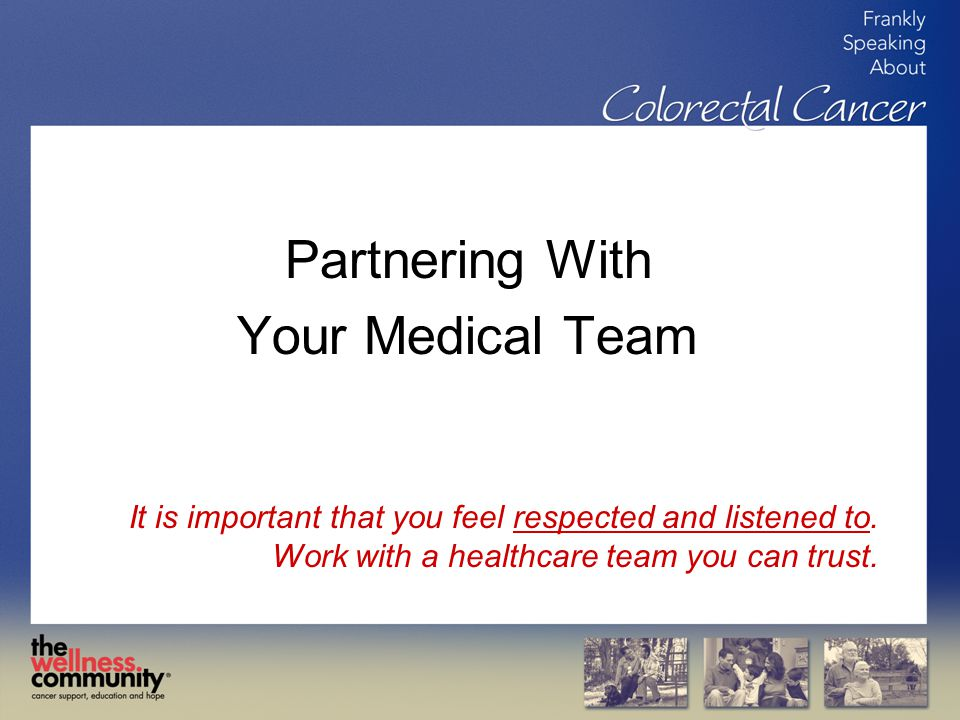 Partnering With Your Medical Team