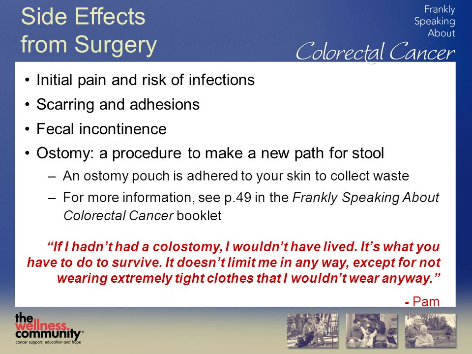 Side Effects from Surgery