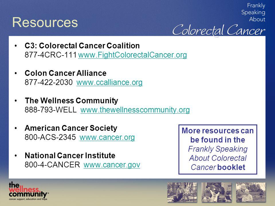 Resources C3: Colorectal Cancer Coalition