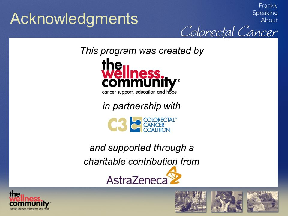 Acknowledgments This program was created by in partnership with