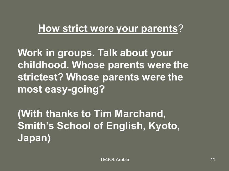 How strict were your parents